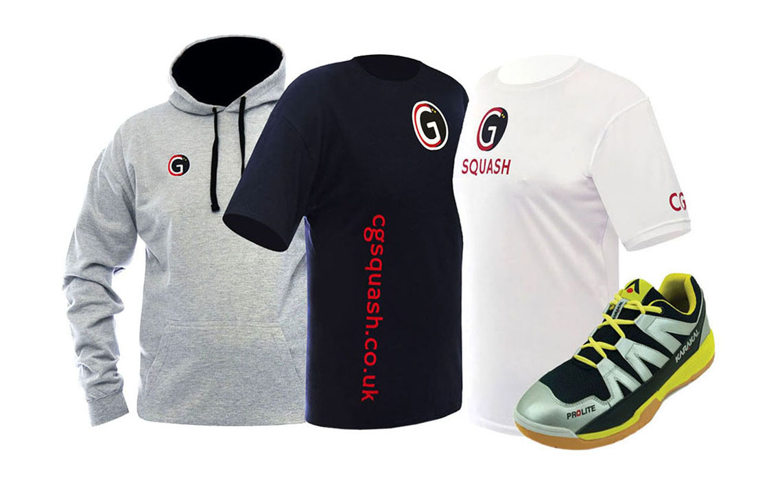 CG Squash performance squash clothing. Available from the CG Squash clothing store.
